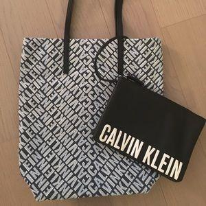 Calvin Klein Canvas Logo Tote